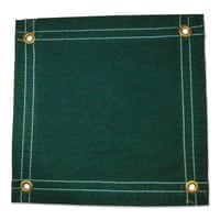 Protective Tarps, 16 ft Long, 12 ft Wide, Green Canvas