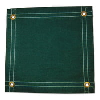 Protective Tarps, 20 ft Long, 20 ft Wide, Green Canvas