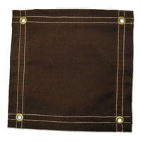 Protective Tarps, 20 ft Long, 16 ft Wide, Canvas, Brown