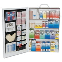 4-Shelf Industrial First Aid Stations, Steel, Wall Mount