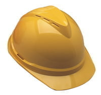 V-Gard 500 Protective Caps, 4 Point Fas-Trac, Yellow