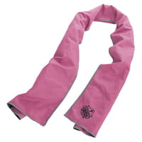 Chill-Its 6602MF Evaporative Micro-Fiber Cooling Towels, Pink/Gray