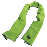 Chill-Its 6602MF Evaporative Micro-Fiber Cooling Towels, Hi-Vis Lime/Gray
