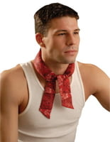 MiraCool Neck Bandanas, 2 in X 34 in, Cowboy Red