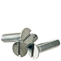 Slotted Flat Machine Screws