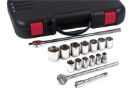 17 Piece Standard Socket Sets, 1/2 in, 12 Point