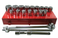 21 Piece Socket Sets, 3/4 in, 12 Point