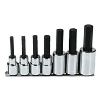 7 Pc. Hex Bit Socket Sets, 1/2 in Drive