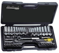 "65 Piece Standard and Metric Socket Sets, 1/4""-3/8"" Drive, 6 - 12 Point Std/Deep"