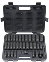 33 Piece Deep Impact Socket Sets, 1/2 in, 6 Point