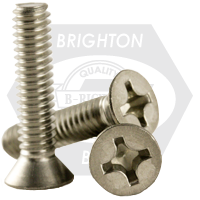 8-32 x 7/8 PHILLIPS FLAT MACHINE SCREW S/S