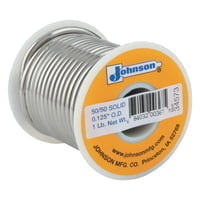 Wire Solders, Spool, Solid Core, 1/8 in, 50% Tin, 50% Lead