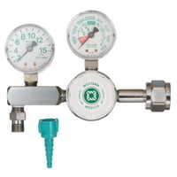 M1 Series Flow Gauge Regulators, Oxygen, 2-15 LPM, CGA540 Nut/Nipple, 3,000 psi
