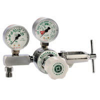 M1 Series Flow Gauge Regulators, Oxygen, 2-15 LPM, CGA-870 Yoke, 3,000 psi inlet