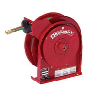 Gas-Welding T-Grade Hose Reels with Hose, 50 ft, Retractable
